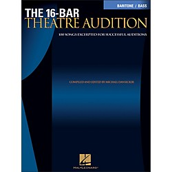Hal Leonard The 16-Bar Theatre Audition For Baritone / Bass Voice (740256)