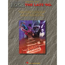 Hal Leonard The History of Rock The Late '90s Piano, Vocal, Guitar Songbook (310870)