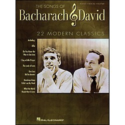 Hal Leonard The Songs Of Bacharach And David arranged for piano, vocal, and guitar (P/V/G) (313112)