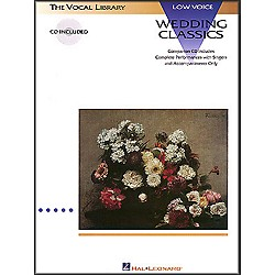 Hal Leonard Wedding Classics For Low Voice Book/CD (740054)