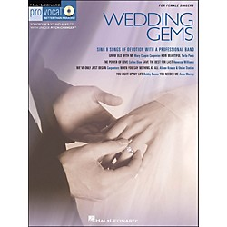 Hal Leonard Wedding Gems - Pro Vocal Series For Female Singers Book/CD Volume 8 (740309)