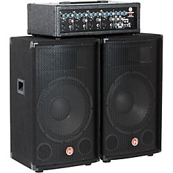 "Harbinger M120 120 Watt 4 Channel Compact Portable PA with 12"" speakers (USED004000 M120)"