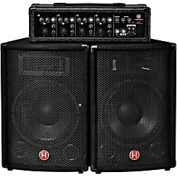 "Harbinger M60 60 Watt 4 Channel Compact Portable PA with 10"" speakers (M60)"