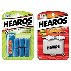 Hearos High Fidelity Ear Plugs with Xtreme Ear Plugs (7-Pairs) (HEAROS-KIT)
