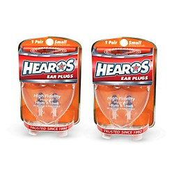 Hearos High Fidelity-Series Long-Term Earplugs (2 Pairs) (311-2PACK)