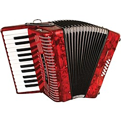 Hohner 12 Bass Entry Level Piano Accordion (1303-RED)