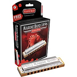 Hohner 1896 Marine Band Natural Minor Harmonica (1896BX-NMC#)