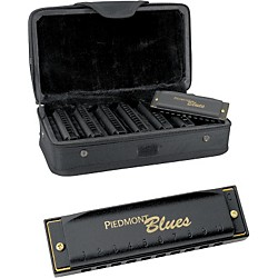 Hohner Piedmont Blues 7-Harmonica Pack with Case (PBH7)