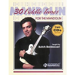Homespun 30 Fiddle Tunes For Mandolin Taught by Butch Baldassari Book with CD (641392)