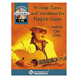 Homespun 8 Great Tunes & Variations for Flatpick Guitar by Dan Crary Book with CD (641504)