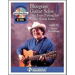Homespun Bluegrass Guitar Solos That Every Parking Lot Picker Should Know (Series 1) Book/6 CD's (641411)