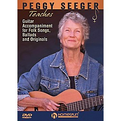 Homespun Peggy Seeger Teaches Guitar Accompaniment For Folk Songs, Ballads And Originals DVD (102910)
