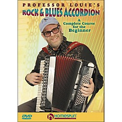 Homespun Professor Louie's Rock And Blues Accordion:  A Complete Course For The Beginner DVD (642007)