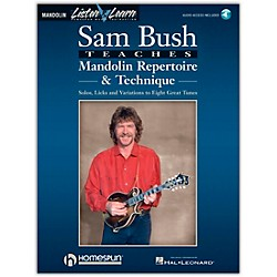 Homespun Sam Bush Mandolin Repertoire & Technique Book/CD Listen & Learn Series (695339)