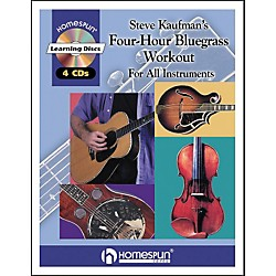 Homespun Steve Kaufman's 4 Hour Bluegrass Workout Book/4 CD Package (641379)