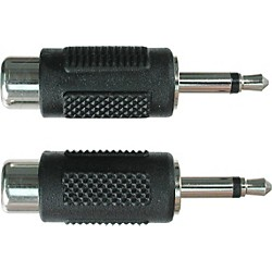 "Hosa RCA Female to Mono 1/8"" Adapter (GRM-114)"