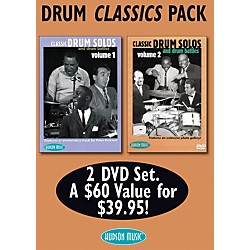 Hudson Music Drum Classics Pack 2 DVD Set - Classic Drum Solos and Drum Battles, Volumes 1 and 2 (320518)