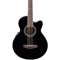 Ibanez AEB10E Acoustic-Electric Bass Guitar with Onboard Tuner (AEB10EBK)