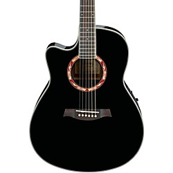 Ibanez AEF18LE Left-Handed Acoustic-Electric Guitar (AEF18LEBK)