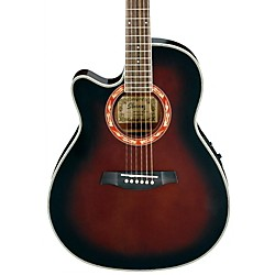 Ibanez AEF18LE Left-Handed Acoustic-Electric Guitar (AEF18LEDVS)