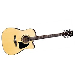Ibanez Artwood Series AW70ECE Solid Top Dreadnought Cutaway Acoustic-Electric Guitar (USED004000 AW70ECENT)
