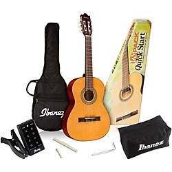 Ibanez IJC30 Quickstart 3/4 Scale Classical Guitar Pack (IJC30)