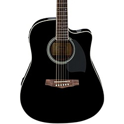 Ibanez PF Series PF15ECE Dreadnought Cutaway Acoustic-Electric Cutaway Guitar (PF15ECEBK)