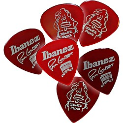 Ibanez Paul Gilbert Red Signature Picks 6-Pack (B1000PGCA)