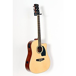 Ibanez Performance Series PF15 Cutaway Dreadnought Acoustic-Electric Guitar with Case (USED005003 PF15ECEWCNT)