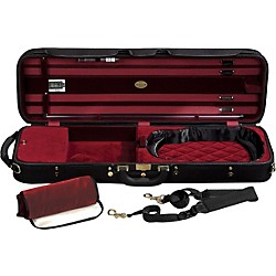 J. Winter Super Light Series Violin Case (JW 3024 CS Blk/Burg)