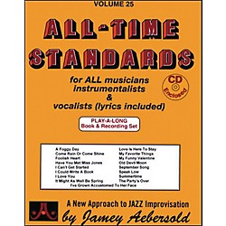 Jamey Aebersold All Time Standards Book and CD (V25DS)