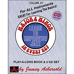 Jamey Aebersold Major & Minor In Every Key - Learn to Improvise Jazz (Book/CD) (V24DS)