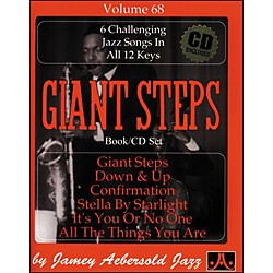 Jamey Aebersold Volume 68 - Giant Steps - Play-Along Book and CD Set (V68DS)
