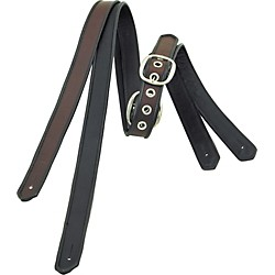"Jodi Head Leather 1-1/2"" Strap with Black Binding (Cash Black/Black)"