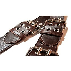 "Jodi Head Roller Buckle Leather 2.5"" Wide Guitar Strap (DRLLB-BROWN)"
