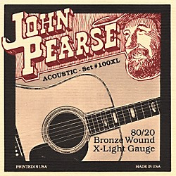 John Pearse 100XL 80/20 Bronze Acoustic Guitar Strings (100XL)