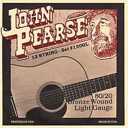 John Pearse 1300L 12-String 80/20 Bronze Acoustic Guitar Strings (1300L)