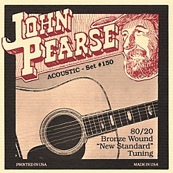 John Pearse 150 80/20 Bronze Acoustic Guitar Strings (150)