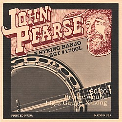John Pearse 1700L Light Banjo Strings (1700L)