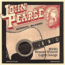 John Pearse 200L 80/20 Bronze Acoustic Guitar Strings (200L)