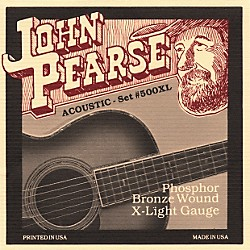 John Pearse 500XL Bronze Acoustic Guitar Strings (500XL)