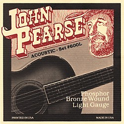 John Pearse 600L Bronze Acoustic Guitar Strings (JP600L)