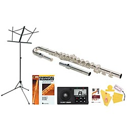 Jupiter 515S Beginner Student Flute Bundle (515S-123 Kit)