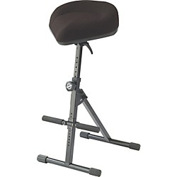K&M Performance Stool with Pneumatic Spring (14047-Black Leather)