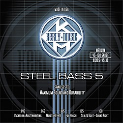 Kerly Music 5-String Bass Strings - Stainless Steel Medium (KQXBS-45130)