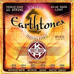 Kerly Music Earthtones Phosphor Bronze 12-String Acoustic Guitar Strings - Light 10-48 (KQXA12-1048)