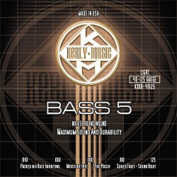 Kerly Music Nickel Plated 5-String Bass Strings Light (KQXB-40125)