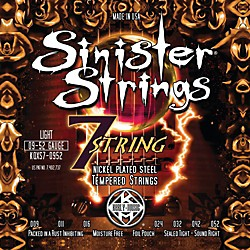 Kerly Music Sinister Strings Nickel Wound Electric Guitar Strings - 7-String Light (KQXS7-0952)