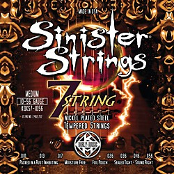 Kerly Music Sinister Strings Nickel Wound Electric Guitar Strings - 7-String Medium (KQXS7-1056)