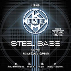 Kerly Music Stainless Steel Bass Strings Medium (KQXBSS-45105)